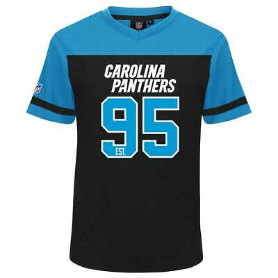 08eff1ae Details about Majestic Carolina Panthers NFL Poly Mesh T Shirt 13 14 Years  Youth Boys Jersey