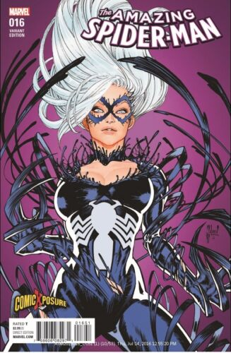 AMAZING SPIDERMAN 16 COMICXPOSURE GUILLEM MARCH VARIANT VENOM BLACK CAT SOLDOUT