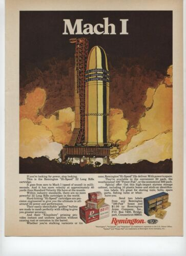 1973 Remington Mach 1 Hi Speed 22 Long Rifle Cartridge Print Ad