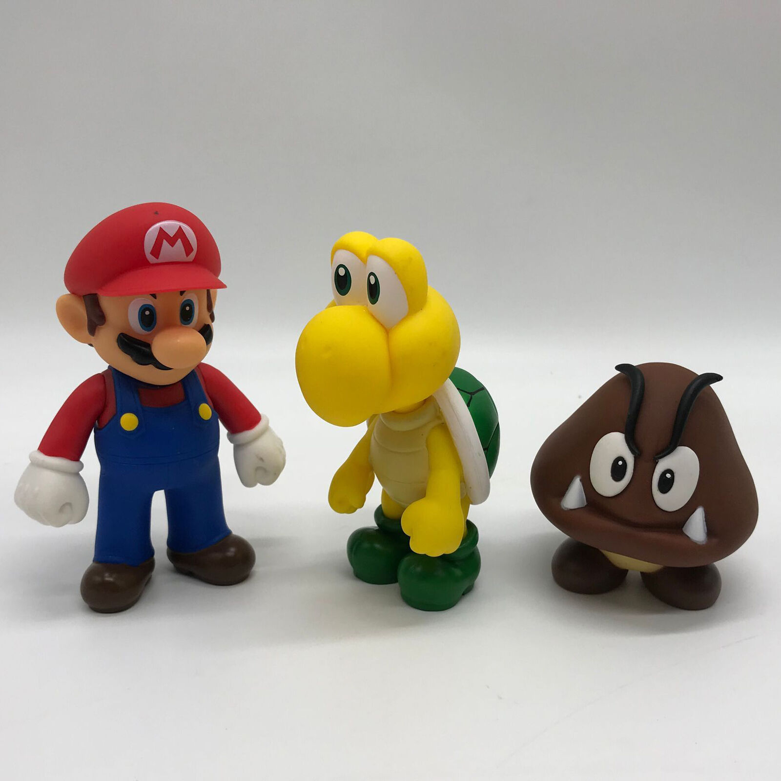 3x New Super Mario Bros Mario Goomba Koopa Troopa Pvc Figure
