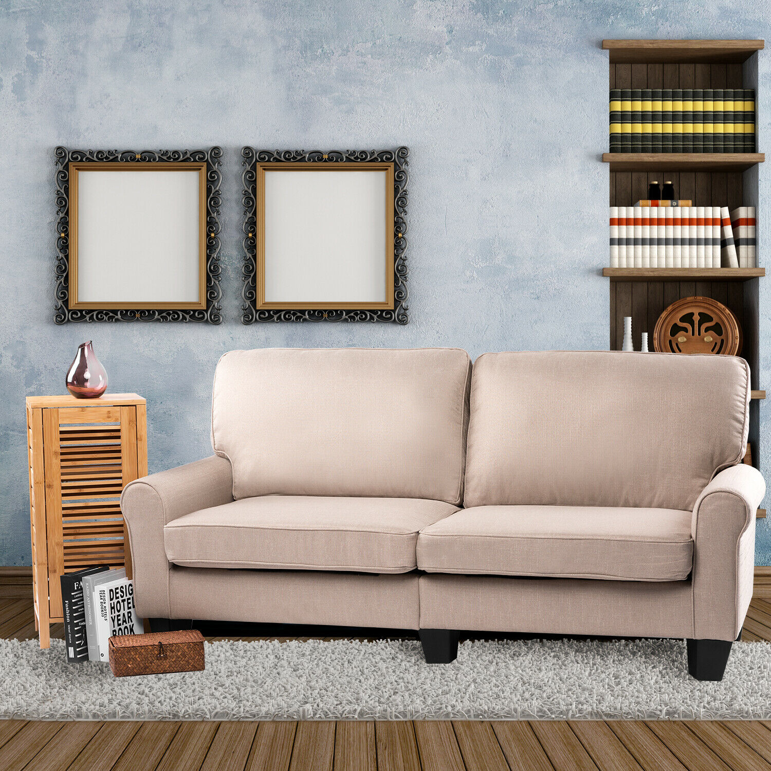 Bahom 70 Indoor Loveseat Couch Sofa 2