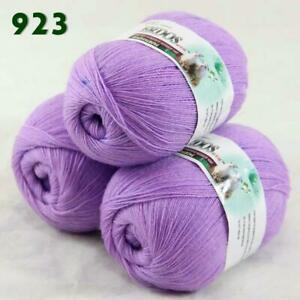 Sale-Lot-of-3-Skeins-x50g-LACE-Soft-Acrylic-Wool-Cashmere-hand-knitting-Yarn-923