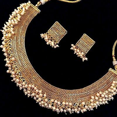 Ethnic South India traditional festive ADIVA woman necklace set v821w