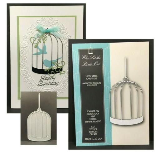 Cage Metal Die Cut Who let the Birds Out Steel Memory Box Cutting Dies 99233