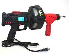 25ft Handheld Electric Drainer Plumbing Dredger Cleaner Drain Snake Auger Unclog