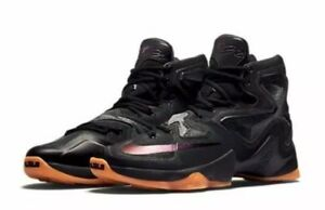 75371ac0f0c4 Nike Lebron XIII 13 Size 10 BLACK LION Anthracite 807219 001 Rare