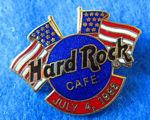 Online-Hrc-1998-4TH-Julio-Doble-American-Banderas-amp-Azul-Logo-Hard-Rock-Cafe-Pin