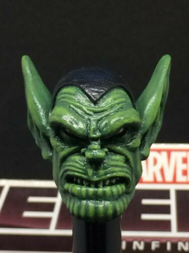 MARVEL LEGENDS CUSTOM PAINTED//FITTED SUPER SKRULL 1:12 HEAD FOR 6IN FIGURE