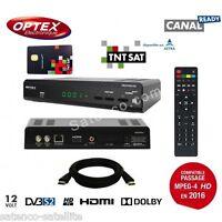 Optex Decodeur Hd Tnt Satellite + Carte Tntsat Astra - Démodulateur Sat