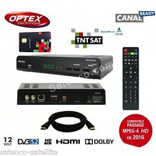 OPTEX DECODEUR HD TNT SATELLITE + CARTE TNTSAT ASTRA - DÉMODULATEUR SAT
