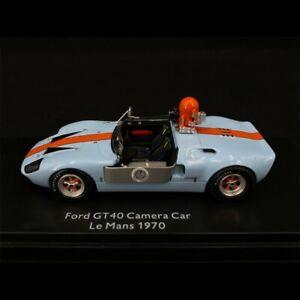 """Ford GT40 Voiture - Caméra Film """" Le Mans """" Gulf 1/43 Schuco 450899600"""