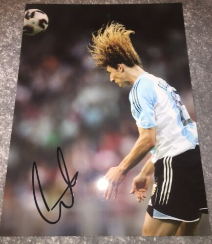 "Fabricio Coloccini Signed Press Picture 10"" X 8"" Argentina Newcastle Deportivo"