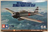 Tamiya 60784 1/72 Mitsubishi A6M3 Zero Fighter Model 32 (Hamp) Model Kit NIB