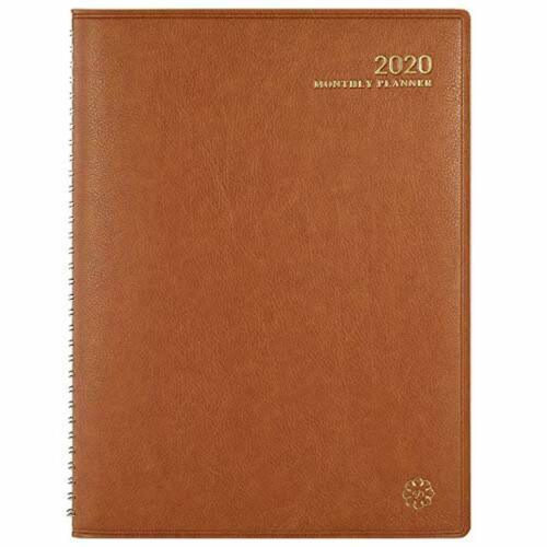 """8.7/"""" x 11.4/"""" Faux 2020 Monthly Planner Monthly Planner 2020 with Monthly Tabs"""