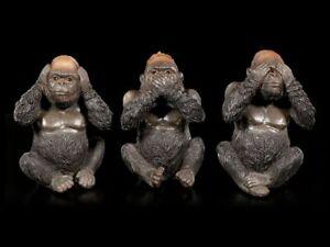 Gorilla-Figures-3er-Set-not-Evil-Sweets-Small-Ape-Statues-Decorative-Gift