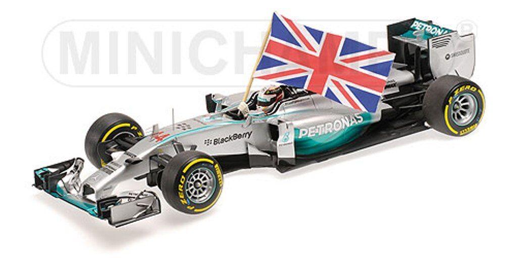 MINICHAMPS 110 140544 MERCEDES AMG F1 model car Hamilton Win Abu Dhabi 2014 1 18