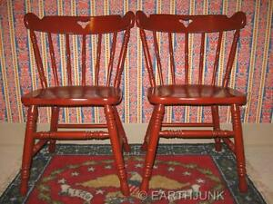 tell city antiqued red chairs 8018 hard rock maple with