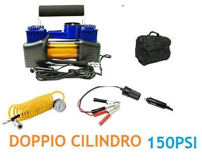 ROYCE COMPRESSORE 2 Cilindro 12V 85L 150PSI X Auto E Furgone con Borsa Compresa