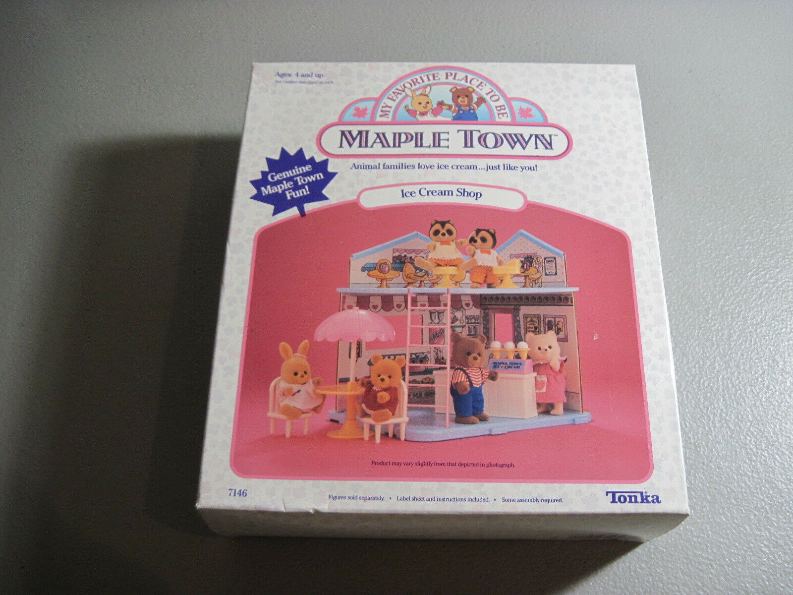 Tonka-Maple Town- Ice Cream Shop-New In Opened Box