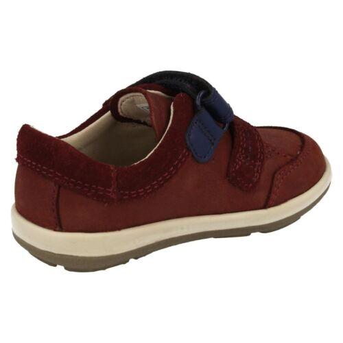 Azul De Zakk Zapatos Softly Marrón Clarks Primeros O Piel Marino Niños Fst HITvHq