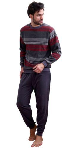 29110193708 auch in Übergrößen Herren Frottee Pyjama Schlafanzug mit Bündchen