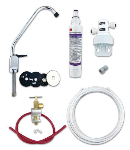 3M sous Évier Eau Potable Filtre Kit avec 0.5µ AP2 C405 SG /& Chrome Levier