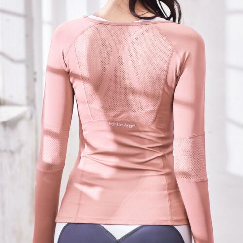 Long Sleeve T Shirt Base Layer Top Active Wear Gym Running Sports Tee Shirt US