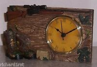 Clock Hunting Rifle & Boots table shelf mantel desk NEW