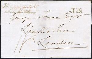 1830 Newton Abbot Penny Post Fine No 1