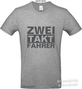 T-Shirt-ZweiTaktFahrer-Mopedjungs-Simson-MZ-Oldtimer-Trabant-Wartburg-Moped