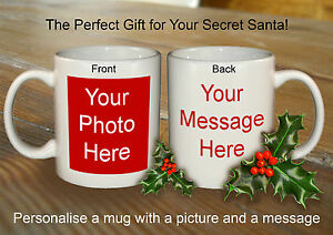 Details about PERSONALISED SECRET SANTA MUG FOR FRIEND OFFICE FUNNY NOVELTY  GIFT CHRISTMAS
