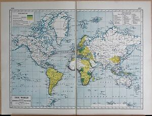 Map Of The World 1920.1920 Map World War 1 The World Showing Germany S Peaceful