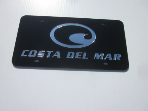 COSTA DEL MAR Acrlic Mirror License Plate Auto Tag nice