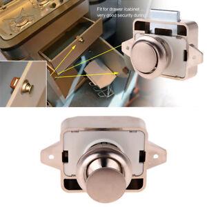 Mini-Druckknopf-Push-Button-Verschluss-Schrank-Tuer-Drehknopf-Wohnmobil-Wohnwagen