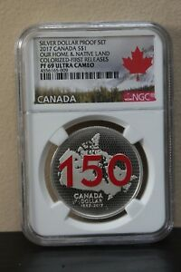 2017Canada-Our-Home-amp-Native-Land-Colorized-First-Releases-Silver-Dollar-Proof-Set