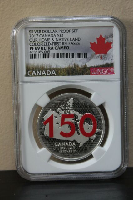 2017Canada Our Home&Native Land Colorized-First Releases Silver Dollar Proof Set