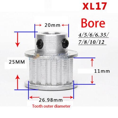 XL synchrone Roue Poulie BF-Type Pour Largeur 6//10//15mm Belt reprap Imprimante 3D