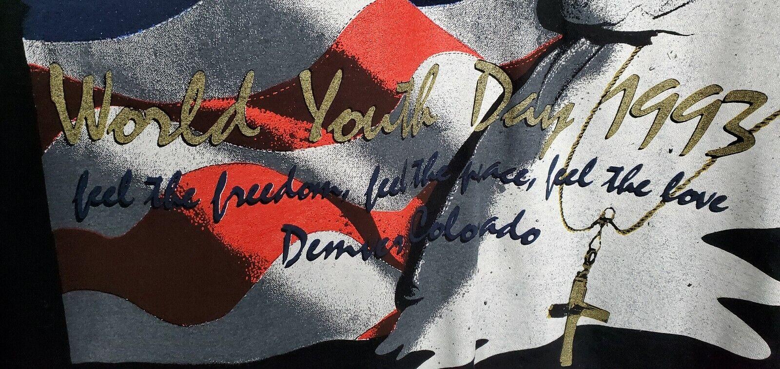 Vintage Pope John Paul II World Youth Day T-Shirt… - image 4