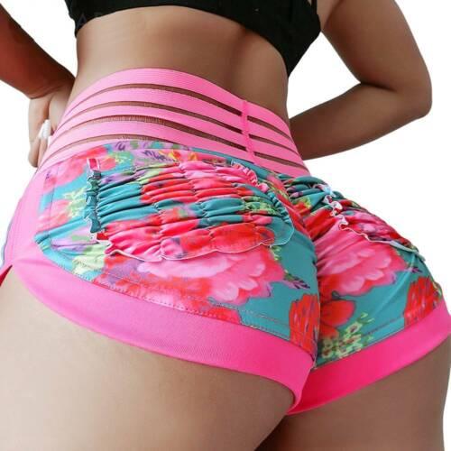 Women High Waist Yoga Shorts Push Up Gym Leggings Sport Fitness Briefs Hot Pants