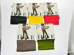 HUE-SOFT-WOMEN-OPAQUE-NYLON-TIGHTS-NON-CONTROL-TOP-MADE-IN-USA-TIGHTS-W4689