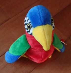 985ff1956b1 Image is loading 1998-Ty-Beanie-Baby-Jabber-The-Parrot-Born-