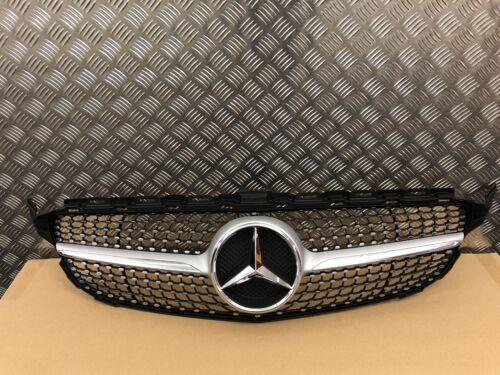 Mercedes W205 Classe C Diamond Grille AMG C200 C220 C250 C300 C350 Argent