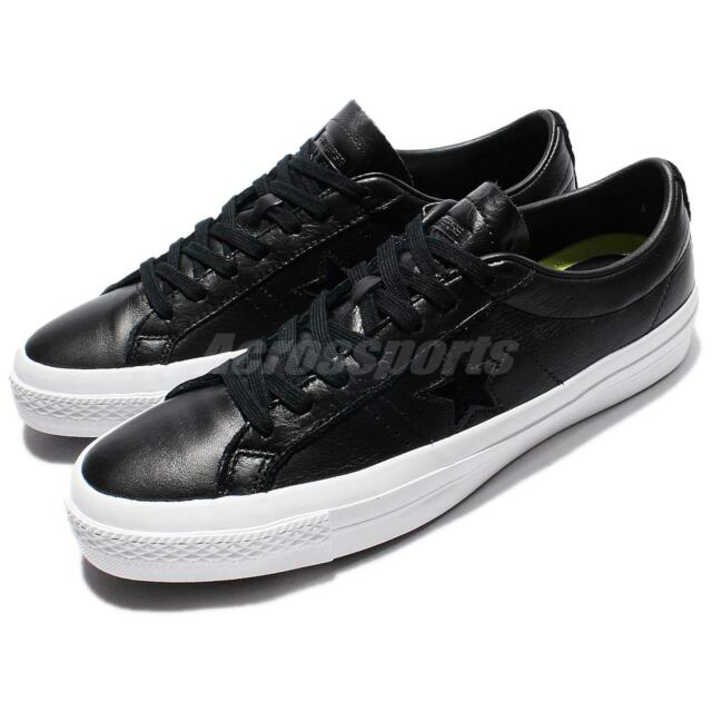 17b74134cd0e Converse One Star Premium Leather Low Top Black White Men Classic Shoes  155548C