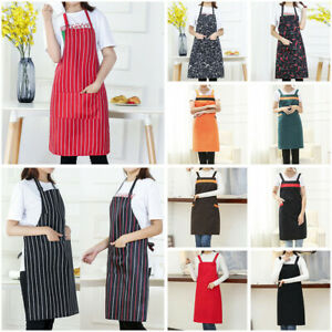 Men-Women-Cooking-Kitchen-Restaurant-Chef-Adjustable-Bib-Apron-Dress-with-Pocket