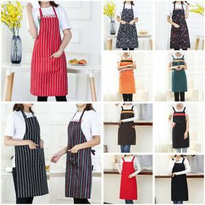 Women-Men-Cooking-Kitchen-Restaurant-Chef-Adjustable-Bib-Apron-Dress-with-Pocket