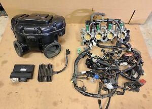 08 09 suzuki gsxr 750 ecu wiring harness air box throttle bodies