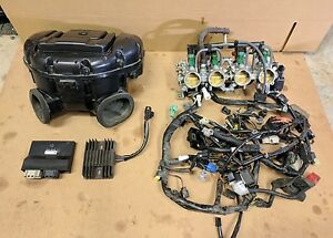 08 09 suzuki gsxr 750 ecu wiring harness air box throttle bodies rh ebay com 1993 Gsxr 750 Electrical Schematic 1994 Gsxr 750