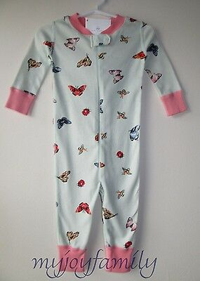 HANNA ANDERSSON Baby Organic Zip Sleeper Flutter Float Butterfly 75 12-18 mo NWT
