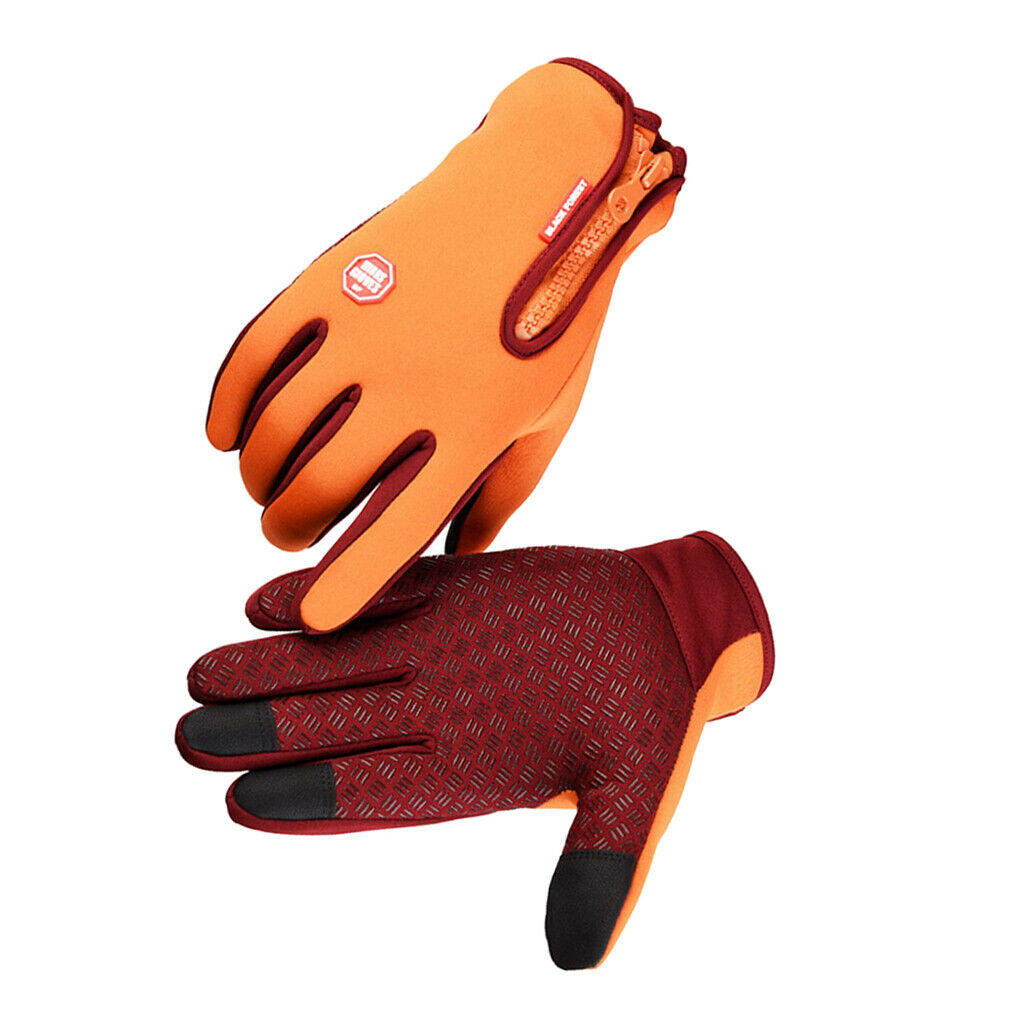1 Pair Thermal Thickened Gloves Outdoor Sport Glove Touch Screen Mitten