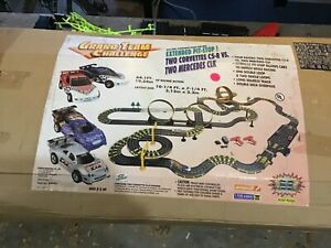 COMPLETE Artin Grand Team Challenge Slot Car Racing Track Corvettes Mercedes